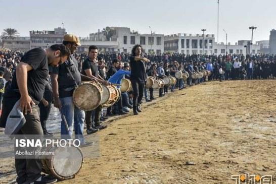 سوگواری هنرمندانه ی مردم بوشهر | یادبود جان باختگان «کشتی سانچی»
